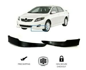 For 2009 2010 Front Bumper Lips L r 2pcs Set Fits Toyota Corolla Factory Style