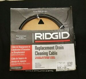 Ridgid Replacement Drain Cleaning Cable 5 16 X 35 Cat 56797