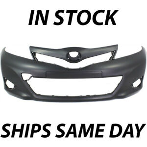 New Primered Front Bumper Cover Replacement For 2012 2014 Toyota Yaris Hatchback