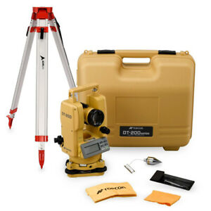 Topcon Dt 209l 9 Second Optical Digital Theodolite With Laser Pointer And Tripod