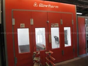 Blowtherm Heated Paint Booth Attached Mixing Room Bt665 paintrm