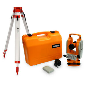 Johnson Level Tilt Sensor Dual Display Digital Theodolite With Tripod