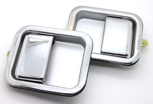 New Chrome Outside Exterior Door Handle Set For 87 06 Jeep Yj Tj W full Steel