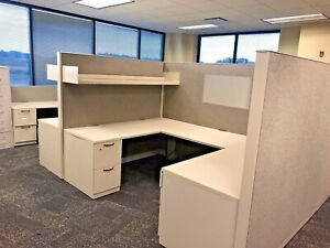 Pod Of 8 6 X 8 1 2 X 67 h Cubicles By Steelcase Answer In Gray