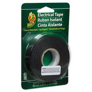 New Duck Pro Electrical Tape 3 4 X 66 Ft 1 Core Black