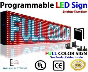 Open Neon Led Signs 7 X 50 Full Color Programmable Outdoor Bar Text Display