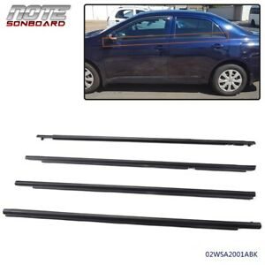 Car Window Weatherstrip Moulding Trim For Toyota Corolla 2009 2010 2011 2012