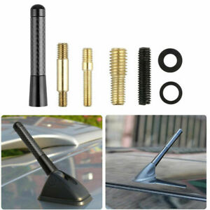 2019 New 3 Real Carbon Fiber Screw In Short Antenna For Universal Car Black Usa