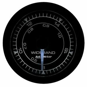 Autometer 8170 Chrono Wideband Air Fuel Ratio Gauge 2 1 16 In Black Dial Face