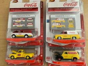 LIMITED EDITION JOHNNY LIGHTNING COCA-COLA DELIVERY SERVICES COMPLETE SET (4)