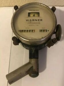 Vintage Antique Warner Auto Meter Magnetic Type Speedometer Vehicle Gauge