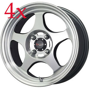 Drag Dr 23 15x6 5 Gun Metal Machined Face Rims For Nissan Sentra Altima Maxima
