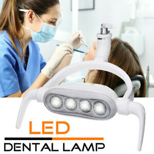 4led Dental Teeth Lamp Oral Light Induction Unit Chair Tool 12v 6300k With Arm