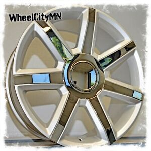 22 Inch Silver Chrome 2015 Cadillac Escalade Oe Replica 4739 Wheels 6x5 5 31