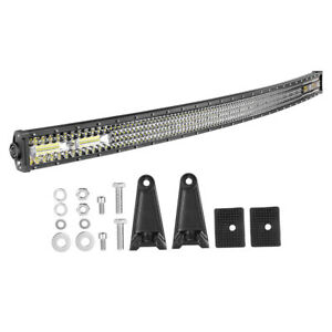 Offroad 54inch Led Work Light Bar Curved Flood Spot Combo Truck Roof Driving Suv