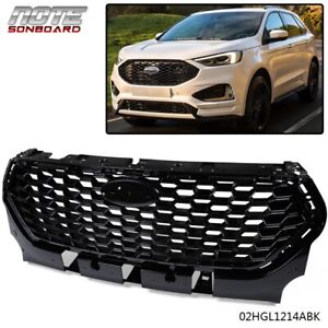 For Ford Escape Kuga Front Grill Gloss Black Upper Honeycomb Grille 2017 2018
