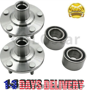 Pair 2 Front Wheel Hub Bearing Assembly Fits 2004 2009 Toyota Camry 2 4l