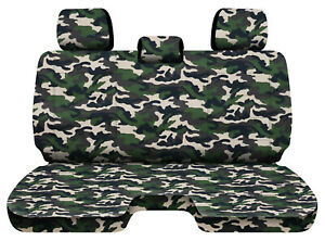 Designcovers Military Camo 78 Fits 05 15toyota Tacoma Front Bench W 3headrests
