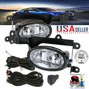 Fit For 06 08 Honda Civic 2dr Coupe Si Clear Lens Bumper Lamps Fog Lights switch