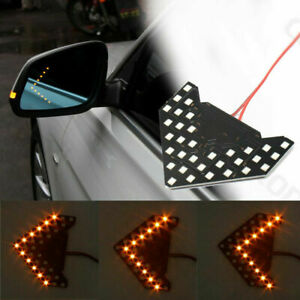 33 Smd Led Arrow Light Car Side Mirror Turn Signal Indicator Amber Sequential