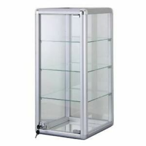 Only Hangers Elegant Silver Vertical Display Counter Top Showcase