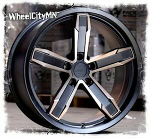 20 X10 Inch Satin Black Bronze Chevy Camaro Iroc Oe Replica Wheels 5x120 20 4x