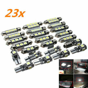 23x Canbus Led Car Interior Inside Light Dome Trunk Map License Plate Lamp Set