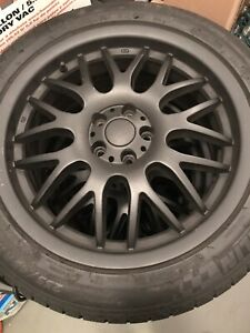 Set Of 4 Sport Edition Ce Wheels Michelin Pilot Alpin Pa3 235 45r17 Snowtires
