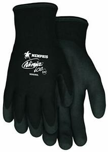 Memphis Ninja Ice Gloves Insulated Dual Layered Hpt Coating One Pair