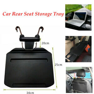 Car Seat Back Rack Cup Holder Abs Aluminum Foldable Table Tray Bearing 10kg