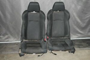 2003 2008 Nissan 350z Front Driver Passenger Side Seat Black Cloth