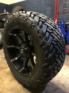 20x10 Fuel D556 Black Coupler Wheels Rim 35 Mt Tires 8x170 Ford Excursion F250