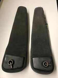 Bmw E34 Arm Rest Pair Fabric Dark Gray Left Right Front Seat Oem E32 Recaro 520