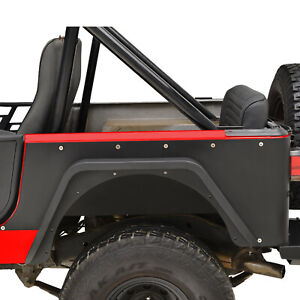 Steel Black Rocker Rear Corner Guard Body Armor Fit For 76 86 Jeep Wrangler Cj7
