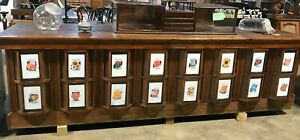 Rare 10 5 Oak Seed Counter With 16 Bay Windows Made In Fort Worth Texas