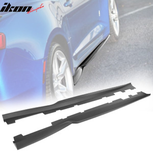 Fits 16 20 Chevy Camaro Type A Side Skirts Matte Black Abs