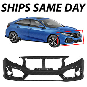New Primered Front Bumper Cover For 2017 2018 2019 Honda Civic Hatchback 17 19
