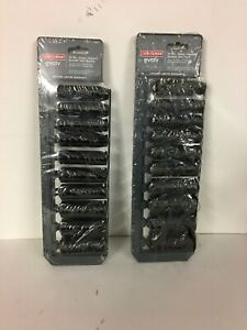 20pc Craftsman Evolv Deep Impact Socket Set Sae Standard Mm Metric 1 2 Drive