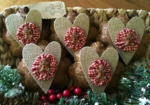 Five Handcrafted Gingerbread Men Ornie S Bowl Filler S Tuck S