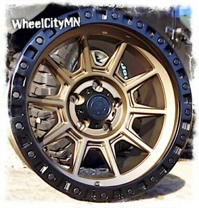 16 X8 Inch Bronze Black Ar202 American Racing Wheels Fits Toyota Tacoma 6x5 5 0