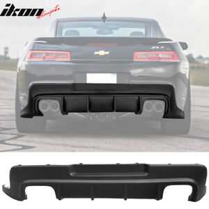 Fits 14 15 Chevy Camaro Zl1 Rear Diffuser Bumper Lip Lower Valance Pp