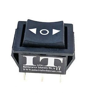 Dpdt 20a Momentary Rocker Switch 6 Pin on Off on 12v 24v Dc 1 4 Quick Plug