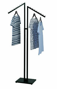 Black 2 way Clothing Rack With Slant Arms