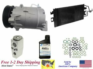New A C Ac Compressor Kit With Condenser For 2006 2009 Impala 5 3l Only