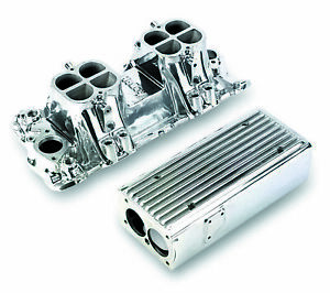Weiand 7540p Weiand Stealth Ram Intake Chevy Small Block V8