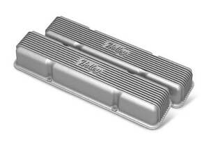 Holley 241 243 Sbc Vintage Series Finned Valve Covers Natural Cast Finish Fits Corvette