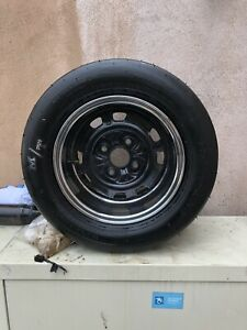 Mazda Rx2 Stretched Rims With Like New Mickey Thompson Slicks 2 Rims And Tires
