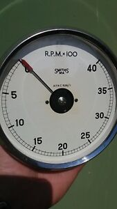 Vintage Smiths R P M X100 Tachometer Rev Counter A T R C 528 1 Made In England