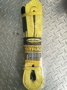 2 20000 Lbs Smittybilt Tow Strap 20 Ft Winch Protector Off Road Recovery Strap