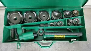Enerpac Sp62 1 2 4 Hydraulic Knockout Metal Punch Set 1